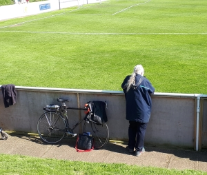 man with a bike at Coggeshall Town